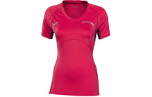 Asics Scoop  tshirt sport Femme SS, Neck rose/noir